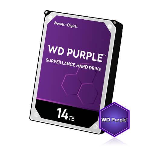 Kõvaketas 14TB (HDD), 24/7 salvestamiseks, Western Digital Purple